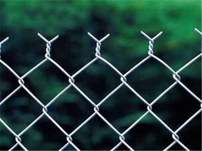 Galvanized chain-link fencing