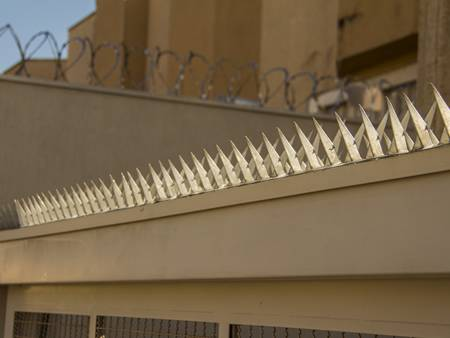 Wall spikes are used in prison for preventing criminal climbing out.
