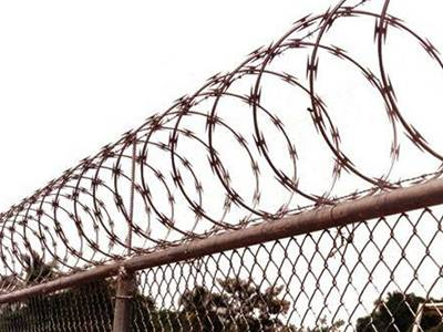 Razor Wire Fence with Sharp Blades for Prisons and Military Areas