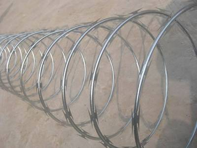 Single coil concertina wire